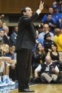 Duke men's basketball coach, Mike Krzyzewski has led the Blue Devils to four NCAA Championships and was the sure win during March Madness. Photo used under Creative Commons License