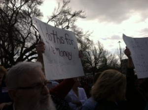 """""""'I do this for the money' said no teacher ever!"""" Photo by Amy Lauver"""