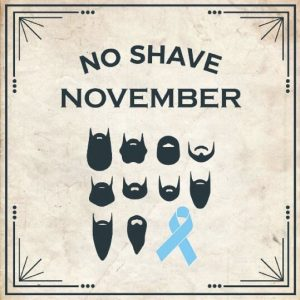 The poster for No Shave November