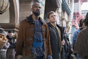 Taron Egerton and Jamie Foxx together in character