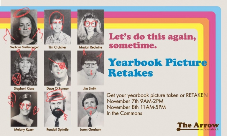 Eight Reasons to Get Your Yearbook Photo Taken on November Seventh and Eighth