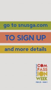 Description of how to sign up for Compassion Week