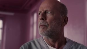 Bruce Willis looking away from the camera