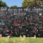 Sign at VegFest of being a vegan in OKC