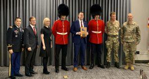 Gov. Stitt and the Queen's Guard