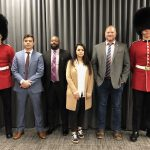 Bart Ermeling and his Vet Center staff with the Queen's Guard