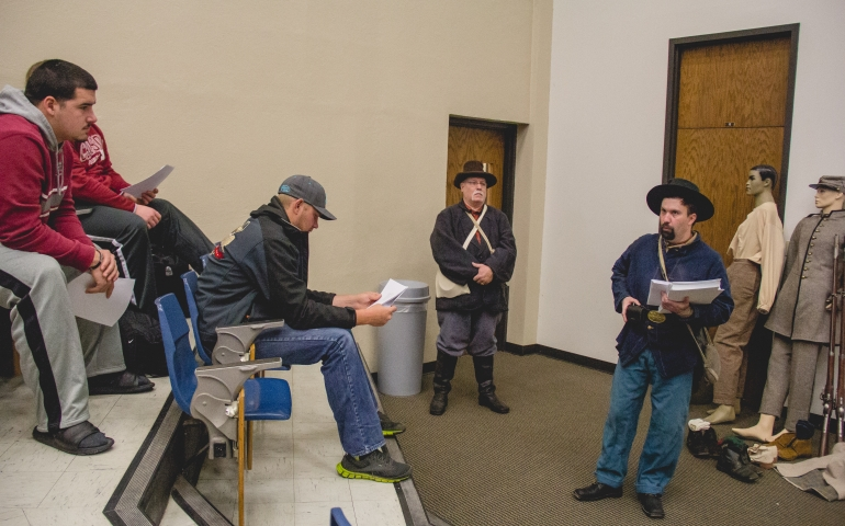 Civil War Reenactors Visit Campus