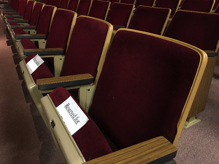 Voluntary Assigned Chapel Seating