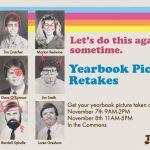 yearbook retake poster