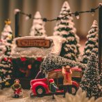 A Christmas figurine scene