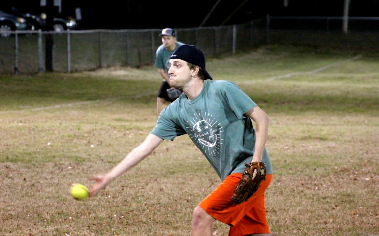 A student pitching