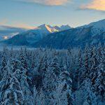 A snowy mountain