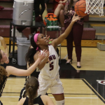 Alexus going up for a lay up
