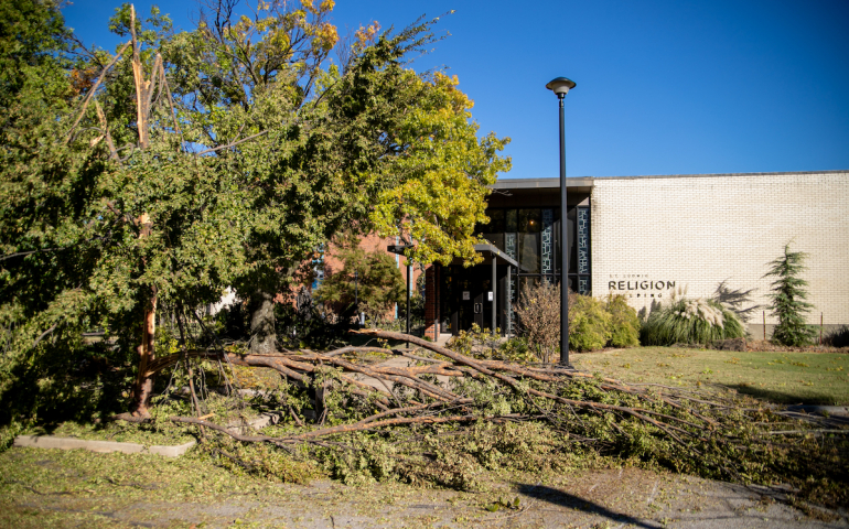 Ice Storm Causes Damage and Power Outages Across Campus